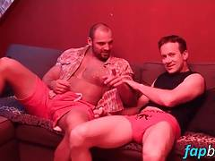 Georgio Buck gets a taste of a muscular mans hungry cock