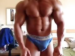 Bulgarian escort Georgi Kiriakov flexing big bulge