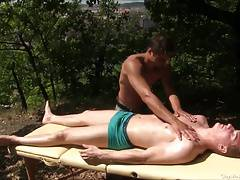 Fit Gay Masssage Outdoors Sex