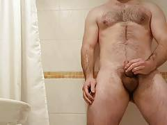 Pissing in the shower
