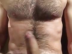 Hot guy shoots all over himself