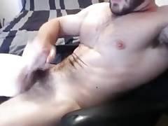 Hairy bear daddy cumshot