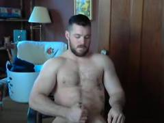 Hot guy jerks off on cam