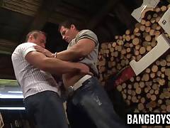 Hunk farm dudes barn gay fuck