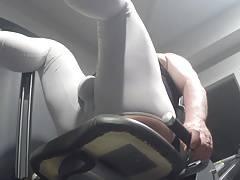 Spandex chaps - a workout