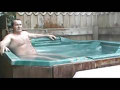 Sexy Daddy Carolina Jim In Hot Tub