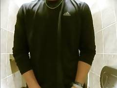 Twink Caught Pissing in Public Restroom Spy Nice Soft Cock