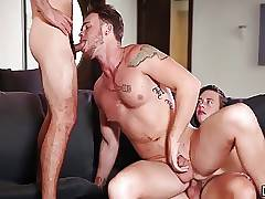 Horny Max Wildes asshole pounded twice by Tobias and Vadim