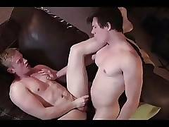 Sexy blonde gets fucked on couch