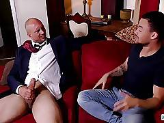 Horny hunk John Magnum rips off Beaux Banks tight asshole