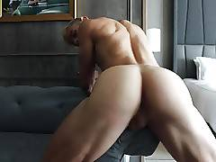 Blonde perfection fingering his perfect butt 2