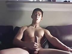US asian hunk muscled JO on webcam (12'43'')