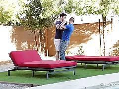 NextDoorStudios Scotty Finds a Pokemon in Lance's Yard!