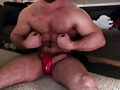 Hairy Big Dick Muscle & Dick play ( No cum )